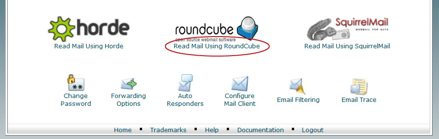 Webmail with Round Cube