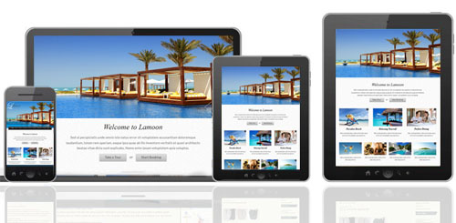 Responsive holiday property websites