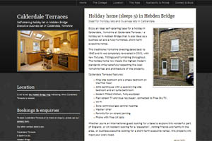 Hebden Bridge self catering cottage website