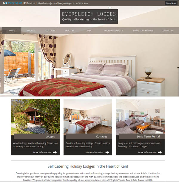 Kent holiday cottage website
