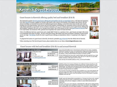 Keswick bed and breakfast UK