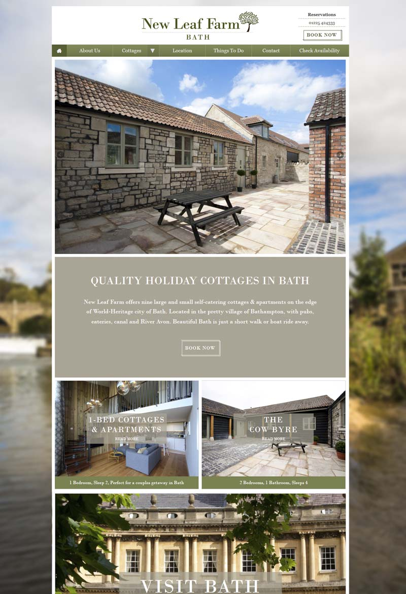 Bath cottages website
