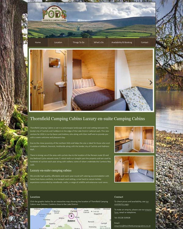 Dalston, Cumbria glamping website