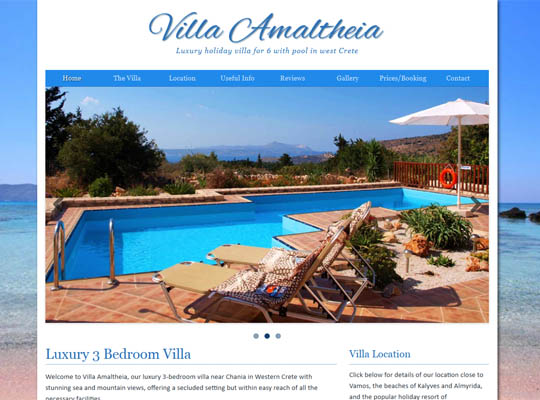 Crete villa website